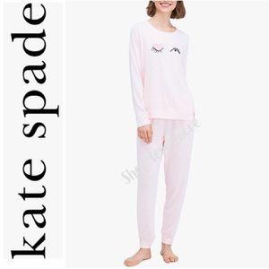 🆕♠️KATE SPADE Heather Pink (Winking) Pajama Set